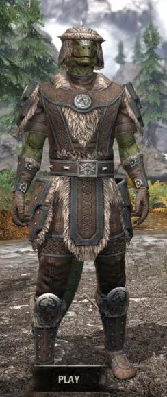 Ancestral Nord Homespun - Argonian Male Shirt Front
