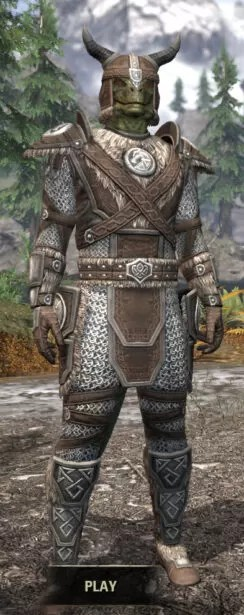 Ancestral Nord Rawhide - Argonian Male Front