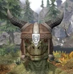 Ancestral Nord Rawhide Helmet - Argonian Male Front