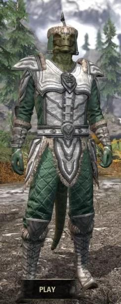 Ancestral Orc Homespun - Argonian Male Shirt Front