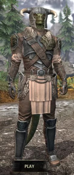 Blackreach Vanguard Iron - Argonian Male Front