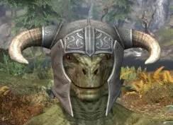 Blackreach Vanguard Iron Helm - Argonian Male Front