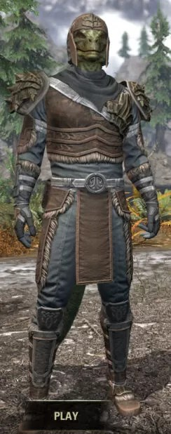 Blackreach Vanguard Rawhide - Argonian Male Front