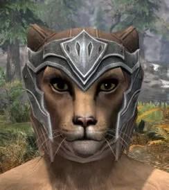 Greymor Rawhide Helmet - Khajiit Female Front