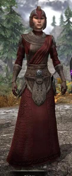 Swordthane Light - Female Robe Front