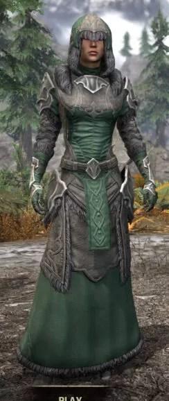 Thorn Legion Honespun - Female Robe Front