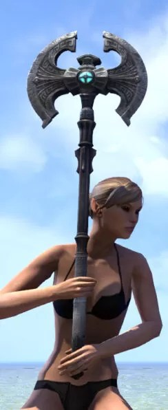 Arkthzand Armory Iron Battle Axe 2