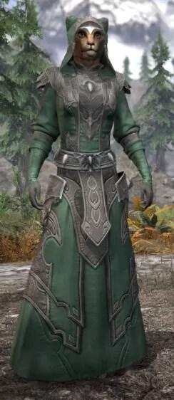 Greymoor Homespun - Khajiit Female Robe Front
