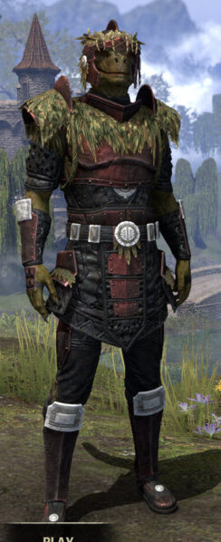 Black Fin Heavy - Argonian Male Front