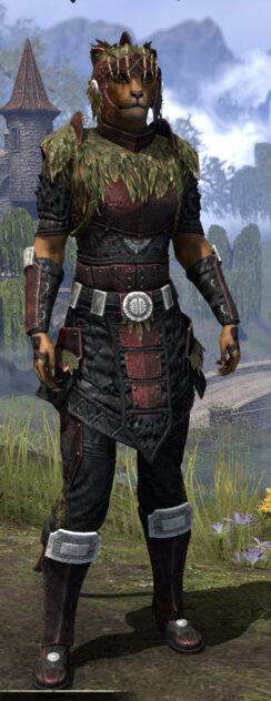Black Fin Heavy - Khajiit Female Front