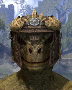 Black Fin Legion Rawhide Helmet - Argonian Male Front