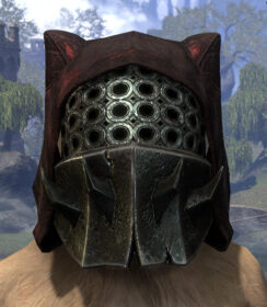 Crimson Oath Medium Helmet - Khajiit Female Front
