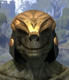 Crested Viper Helmet - Argonian Male Front