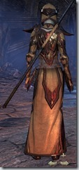 Dark Elf Sorcerer Veteran - Female Back