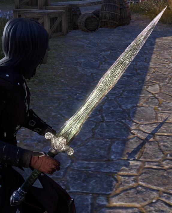 Eso Fashion Akaviri Quicksilver Sword Elder Scrolls Online