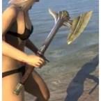 Ancient Elf Iron Axe