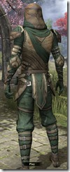 Outlaw Homespun Robe - Male Back