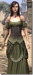 Off-the-Shoulder Evening Dress - Female Close Front