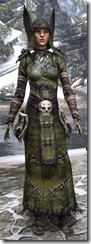 Winterborn Shaman's Costume Dyed Front