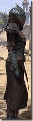 Ebony Ancestor Silk Robe - Female Close Side