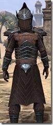 Ebony Ancestor Silk Robe - Male Close Back