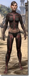 Red Skeleton Body Paint - Female Front