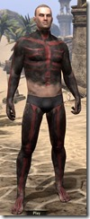 Red Skeleton Body Paint - Male Front