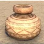 Redguard Pot, Ceramic