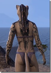 Wyrd Root Tattoos - Khajiit Back