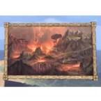 Velothi Painting, Oversized Volcano