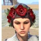 Crimson Garden Flower Hat