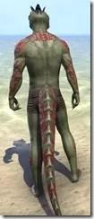 Dremora Kyn Body Tattoo - Argonian Back