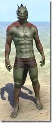 Dremora Kyn Body Tattoo - Argonian Front
