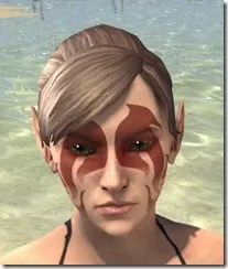 Fire Cyclone Face Markings - Female Front