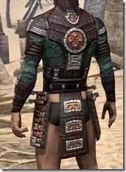 Argonian Dwarven Cuirass - Male Rear