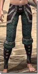 Argonian Dwarven Greaves - Female Front
