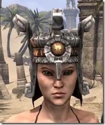 Argonian Dwarven Helm - Female Front
