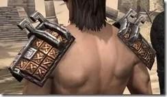 Argonian Dwarven Pauldron - Male Rear