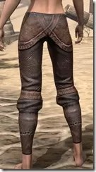 Argonian Iron Greaves - Female Rear