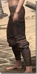 Argonian Iron Greaves - Female Side