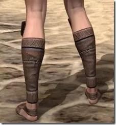 Argonian Iron Sabatons - Female Rear