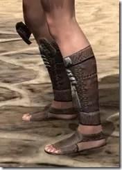 Argonian Iron Sabatons - Female Side