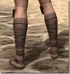Argonian Iron Sabatons - Male Rear