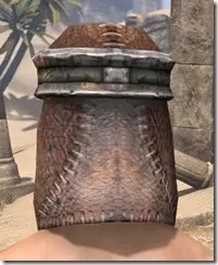 Argonian Steel Helm - Male Rear