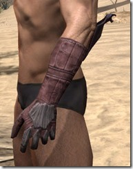 Dragon Priest Rubedite Gauntlets - Male Side
