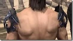 Fang Lair Ancestor Silk Epaulets - Male Rear