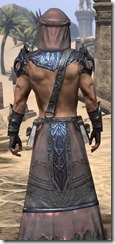 Fang Lair Ancestor Silk - Male Robe Close Rear