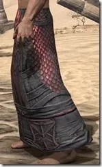 Fang Lair Rubedite Greaves - Male Side