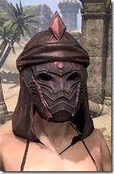 Fang Lair Rubedite Helm - Female Front