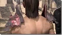 Fang Lair Rubedite Pauldron - Male Rear